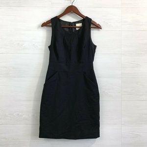J Crew Suiting PXS Black 100% Wool Sheath Dress